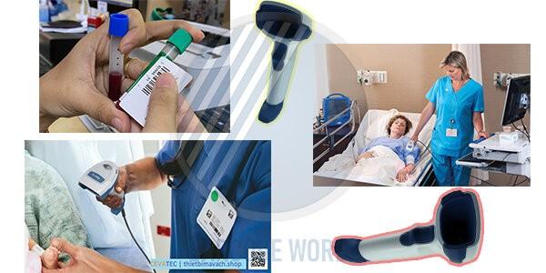 Máy đọc mã vạch cầm tay Zebra DS4608-HC hỗ trợ các hoạt động y tế