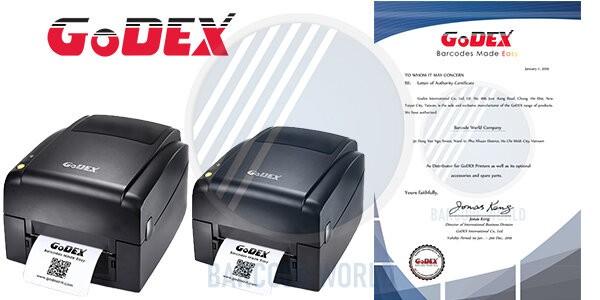 Chứng nhận nhà phân phối chính hãng từ thương hiệu máy in tem nhãn GoDEX
