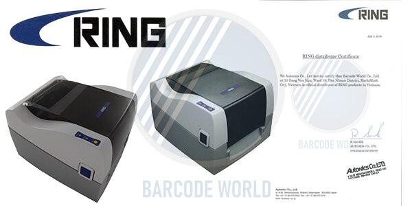 Chứng nhận nhà phân phối chính hãng từ thương hiệu máy in tem nhãn Ring