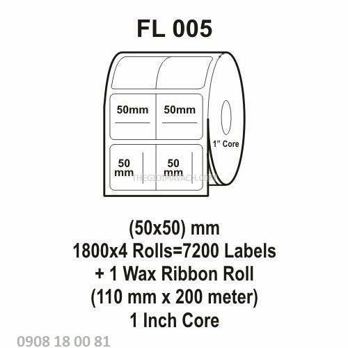 Giấy in mã vạch Fasson Kích thước 50x50mm
