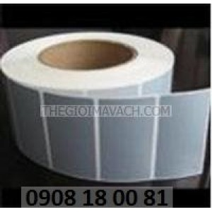 Giấy in mã vạch Fasson Decal nhôm (xi bạc)