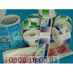 Giấy in mã vạch Fasson Giấy decal nhựa (Decal PVC)
