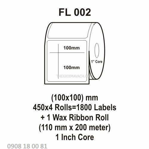 Giấy in mã vạch Fasson Kích thước 100x100mm