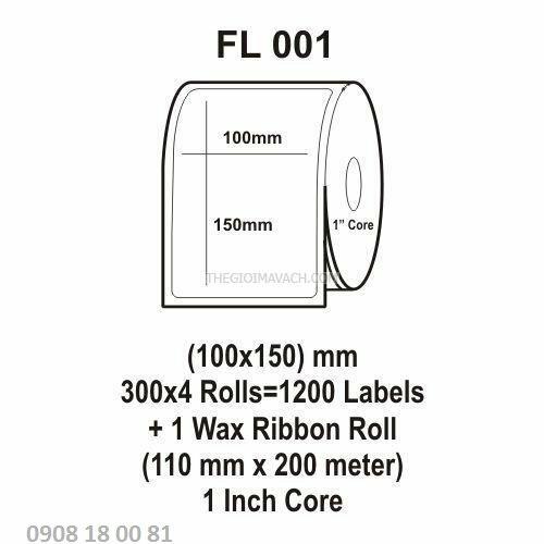 Giấy in mã vạch Fasson Kích thước 100x150mm