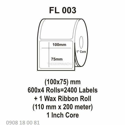 Giấy in mã vạch Fasson Kích thước 100x75mm