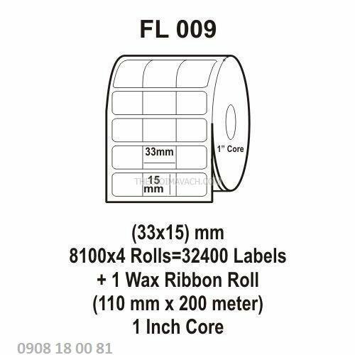 Giấy in mã vạch Fasson Kích thước 33x15mm