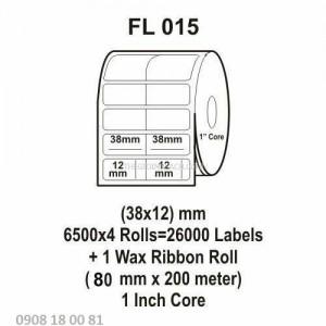 Giấy in mã vạch Fasson Kích thước 38x12mm