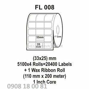 Giấy in mã vạch Fasson Kích thước 35x22mm