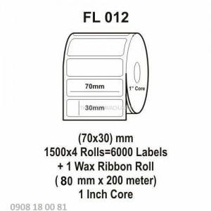 Giấy in mã vạch Fasson Kích thước 70x35mm