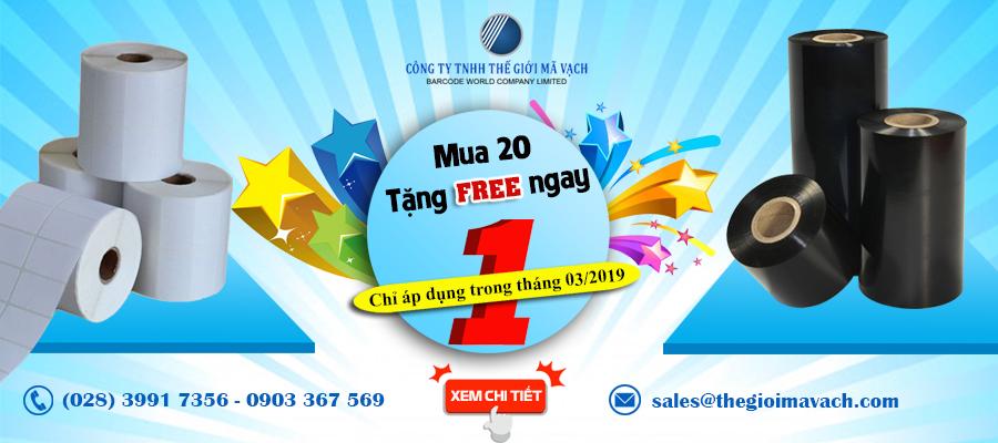 """Ưu đãi tháng 3/2019 """"MUA 20 TẶNG FREE NGAY 1"""""""