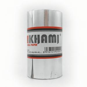 Giấy in bill - hóa đơn Khami K80 x phi 45 (xanh)