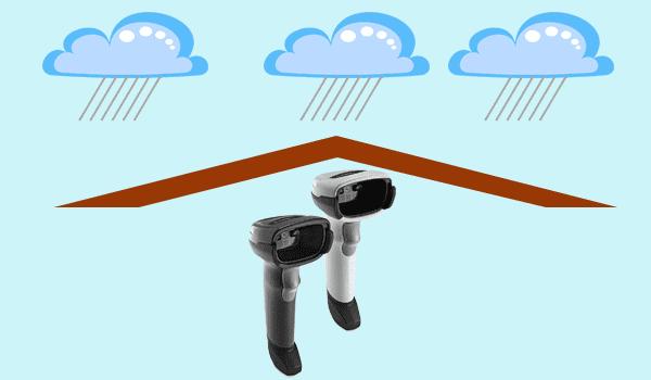 Không sử dụng máy quét - đầu đọc mã vạch trong môi trường ẩm ướt