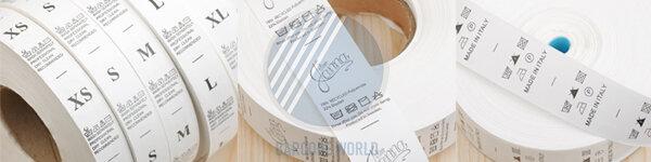 Sử dụng máy in nhãn mác quần áo cho ra các tem hướng dẫn sử dụng chất lượng cao, rõ nét