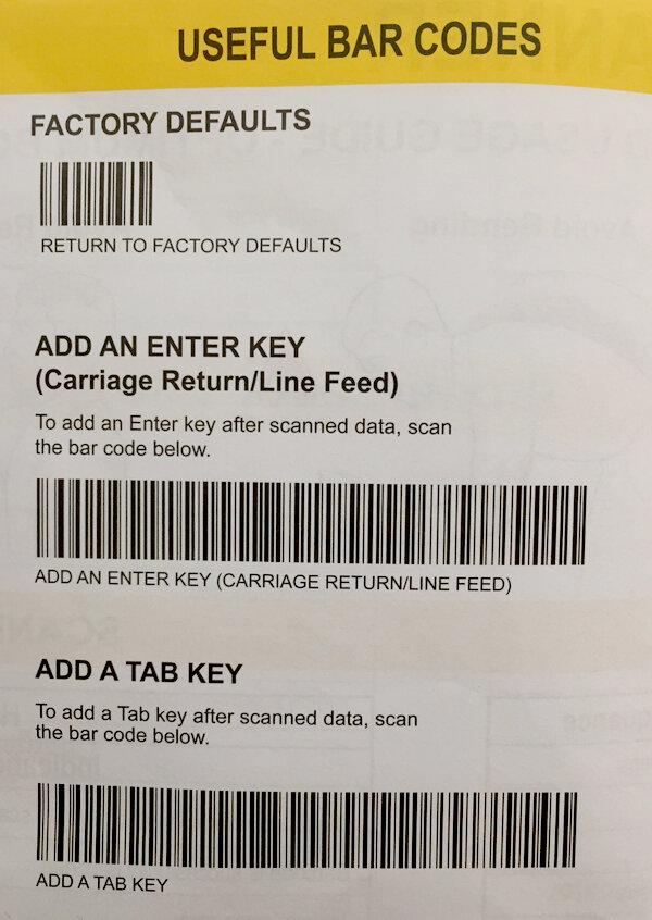 Ví dụ điển hình về mã set enter cho máy quét mã vạch Symbol - Zebra Li4278