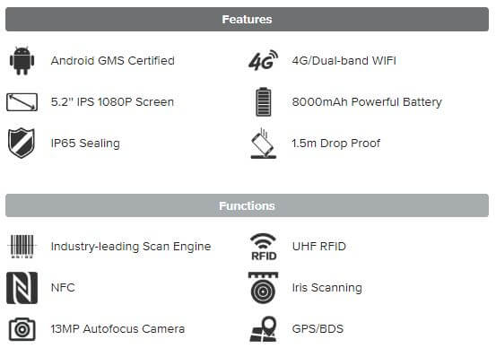 Đầu đọc UHF RFID Chainway C72 - Thế Giới Mã Vạch