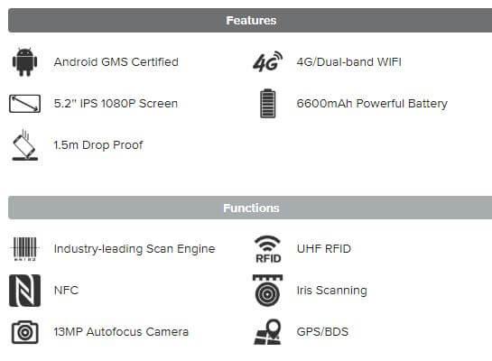 Máy quét mã vạch UHF RFID Chainway C76 - Thế Giới Mã Vạch